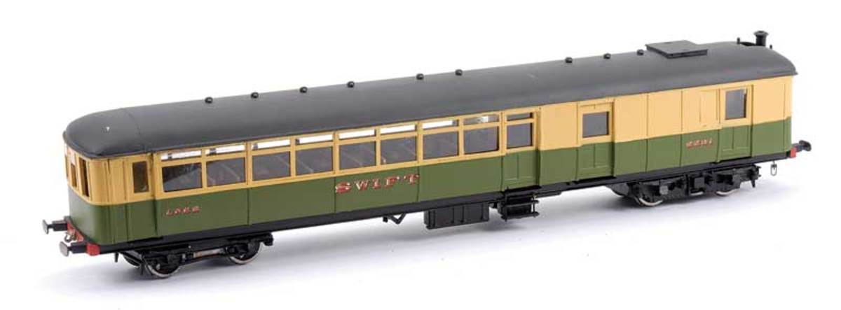 O-Gauge kit-built Sentinel Railcar 'Swift' - these railcars ran around the same time as the Clayton and Armstrong Whitworth types (see below)