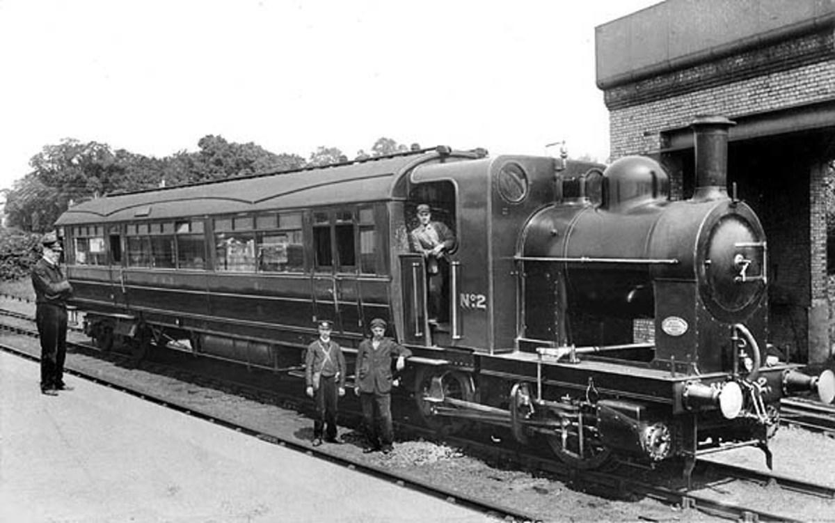 Or how about this Great Northern Railway Railmotor with a single carriage body and loco attached for branch services at Edgware, N W London 1906