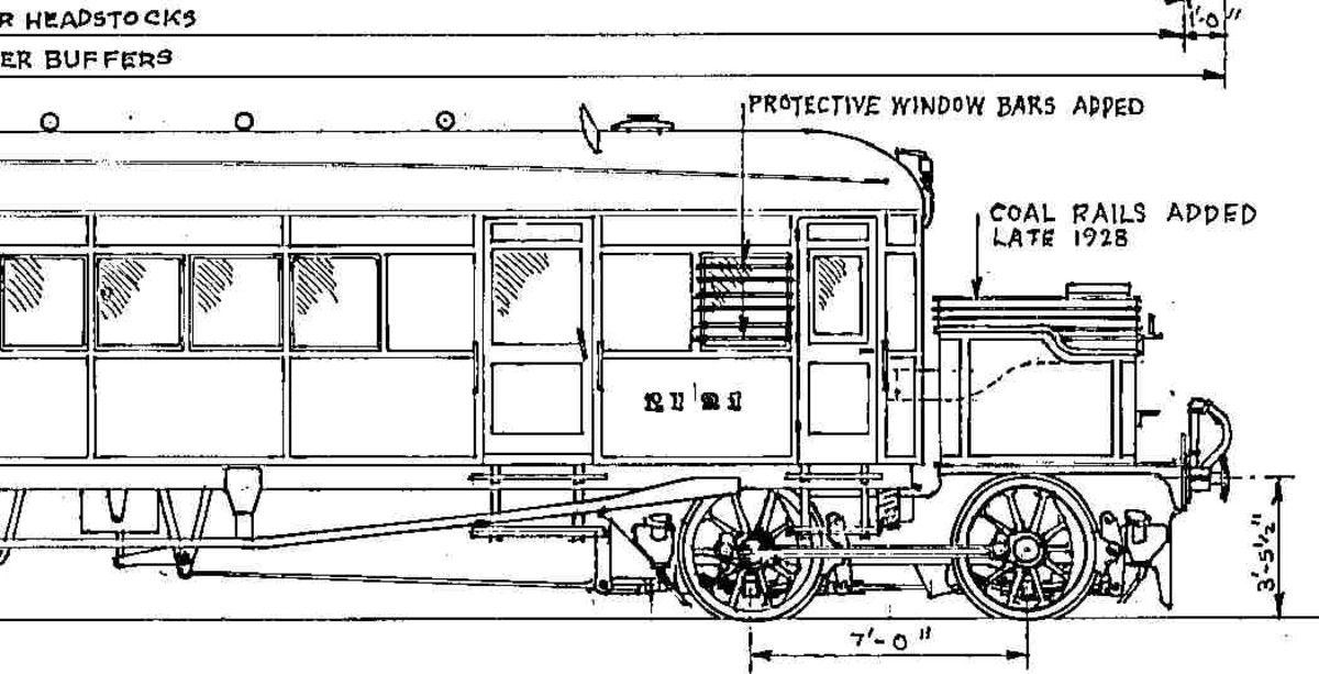 Isinglass Drawings diagram 91 of the Clayton steam railcars (generally based in the East Midlands), recognisable by the massive coal bunker that seemed to be an afterthought.