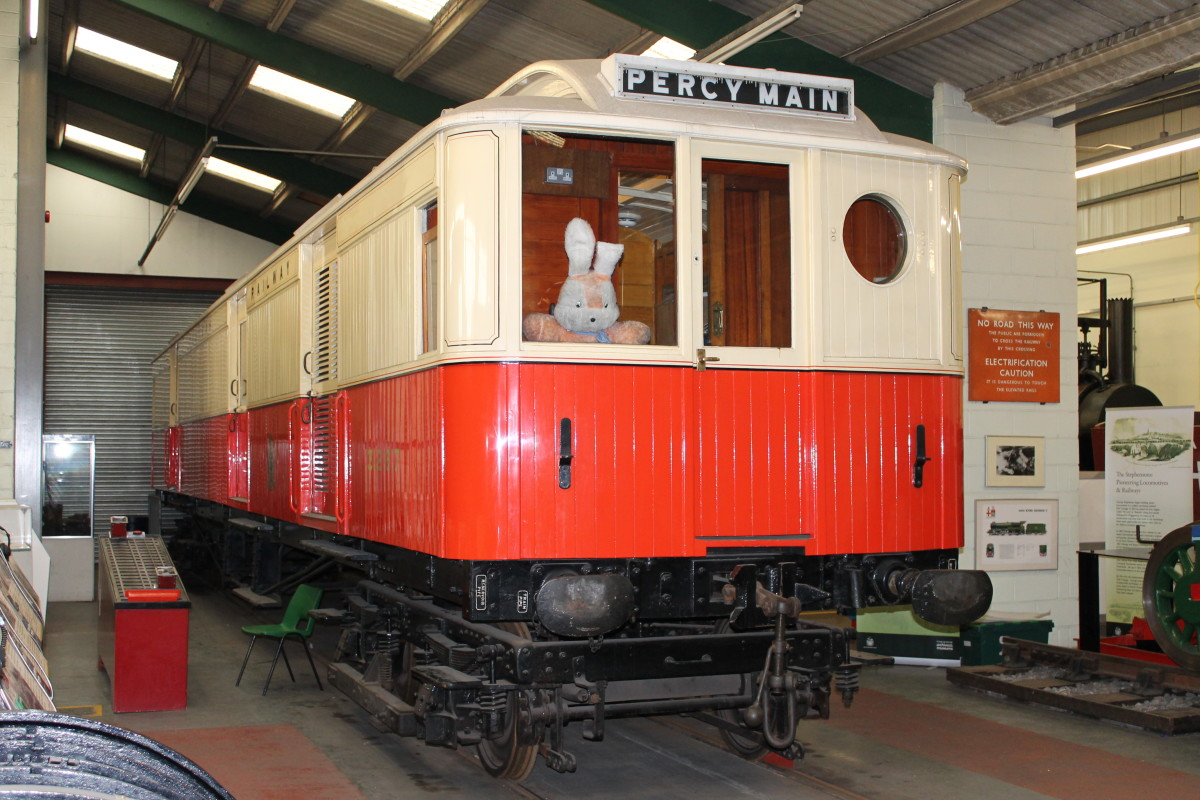 Early in the 20th Century NER Locomotive Superintendent Wilson Worsdell came up with the Tyneside Electric sets to compete with Tyneside suburban tram services - this is a driving trailer destined for Percy Main near North Shields