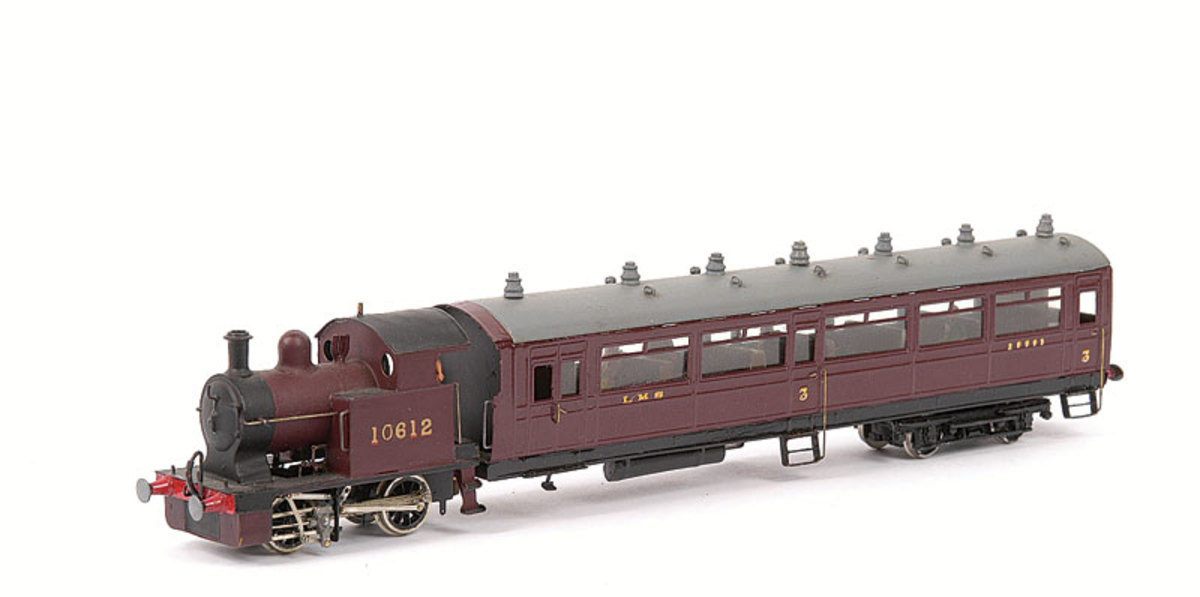 Jidenco OO 0-4-0 LMS Railmotor in LMS maroon livery