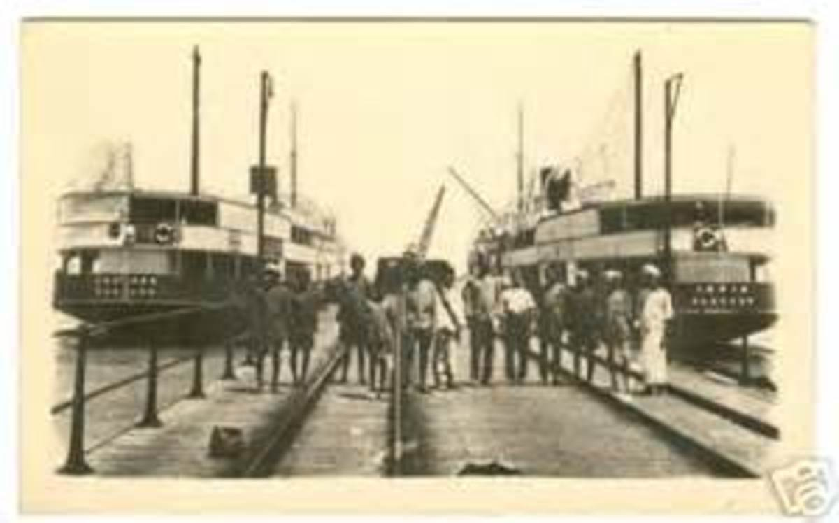 Danushkodi before 1964. The rail conected to steamer