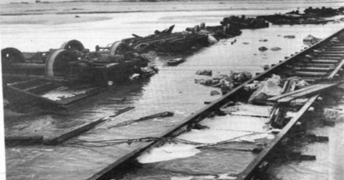 The destroyed Rail track, still the same