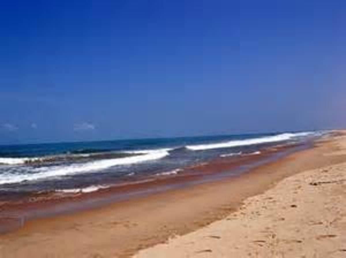 Picturesque beach at Danushkodi