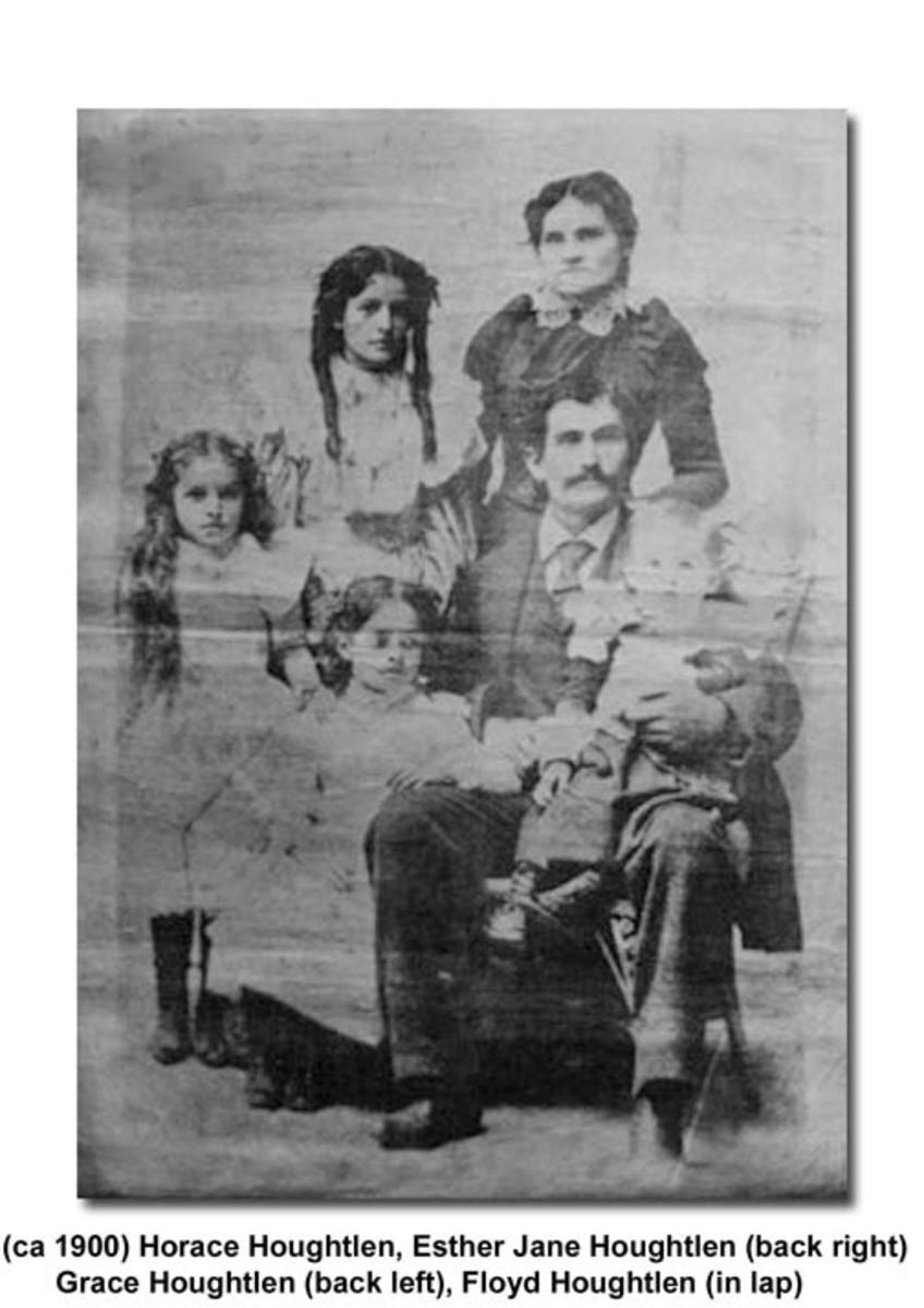 Horace Houghtlen & family  circa 1900