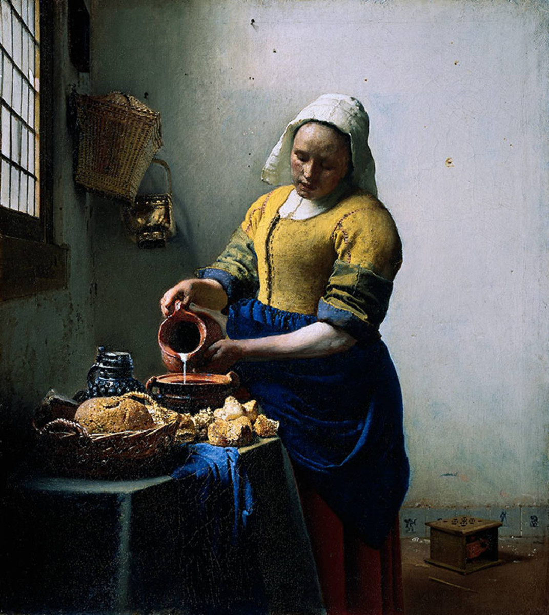 "One of my favorite paintings, ""The Milkmaid"""