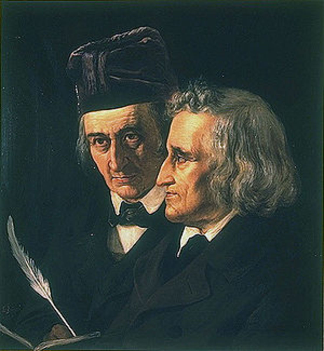 Wilhelm and Jacob Grimm 1855
