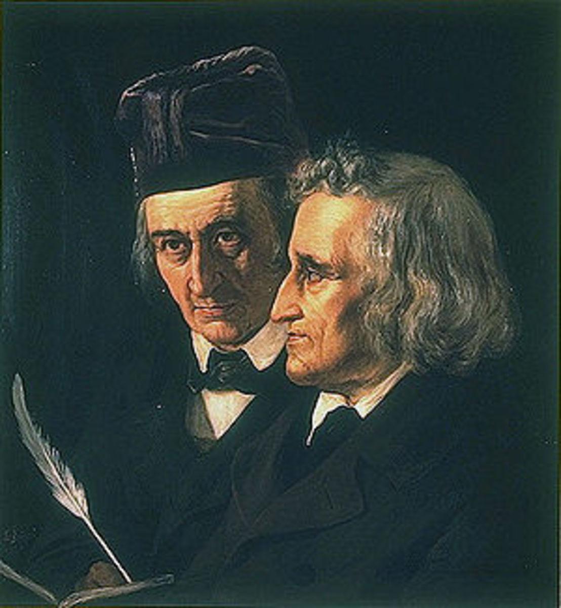 Wilhelm and Jacob Grimm 1855
