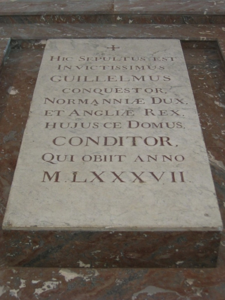 The C19th marble monument to William the Conqueror