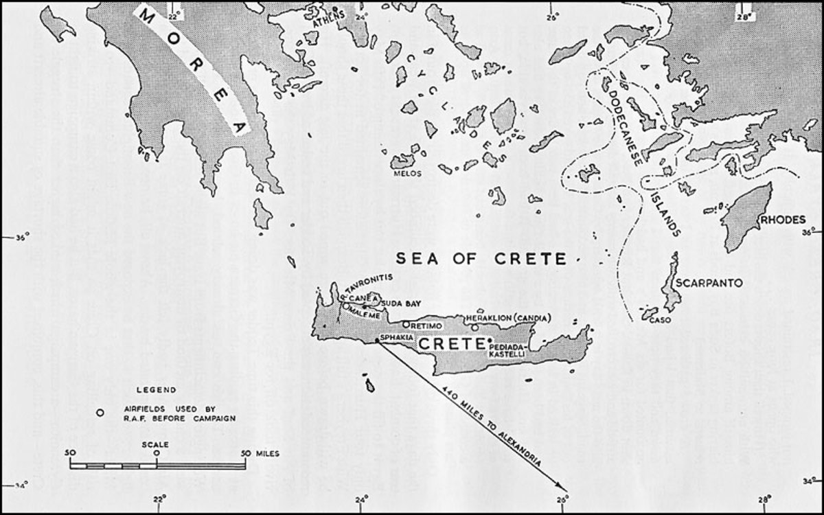 Eastern Mediterranean RAF Map - after the RAF pulled out the fighters they had left after the mauling they'd had, the Germans had total air control over the island