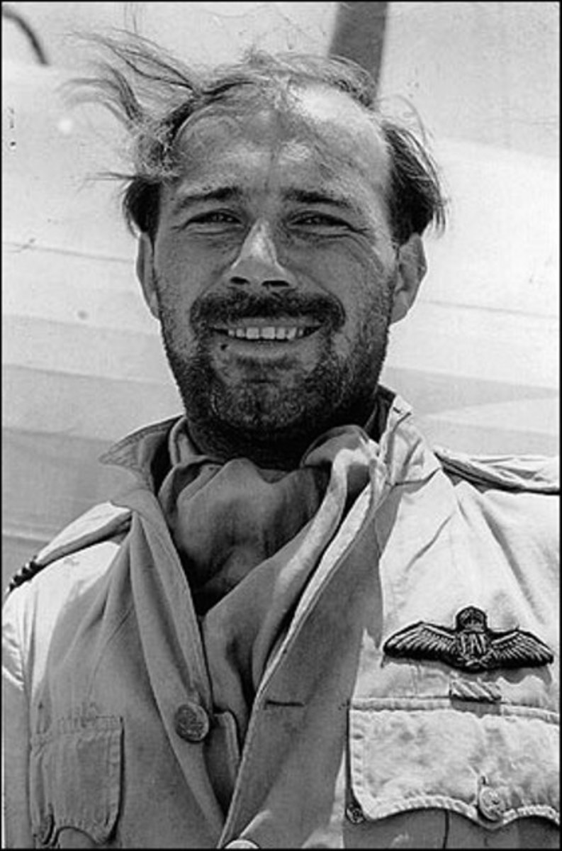 Group Captain Dudley Honor, flight commander of 274 Squadron on Crete - his slower Hawker Hurricane fighters were pitched against Messerschmitt ME109's, as no Spitfires were available for the Mediterranean area at the time