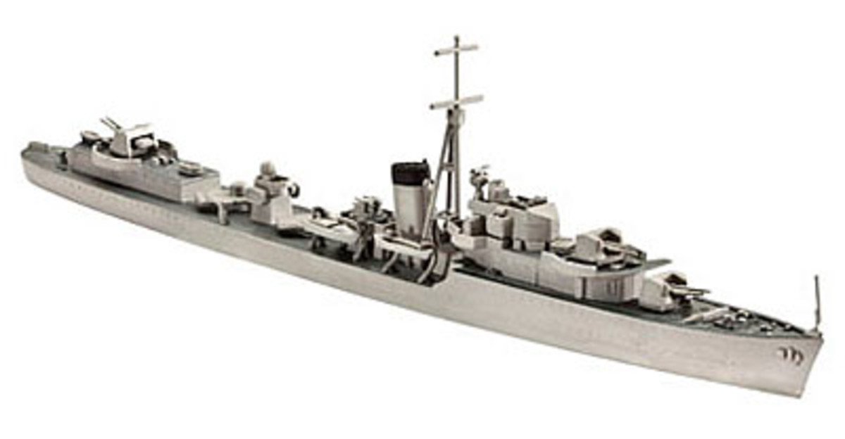 K Class destroyer HMS 'Kelly' is available as a 1/700 scale 'waterline' kit from Revell - see link below