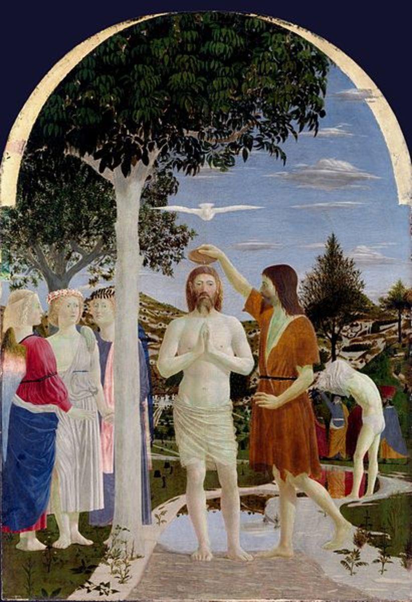 Piero della Francesca, Baptism of Christ (1450-1460) London National Gallery