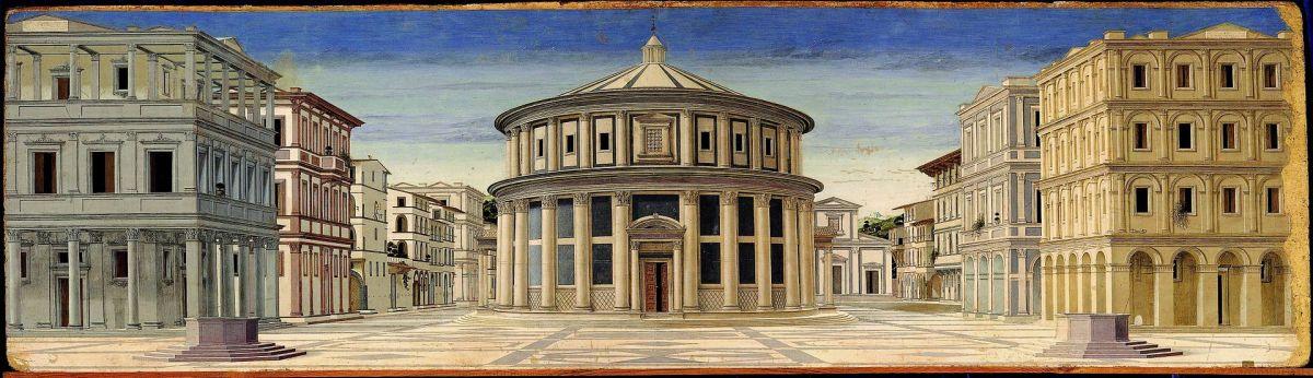 Anonymous, Ideal City (a. 1490), Urbino Galleria Nazionale delle Marche