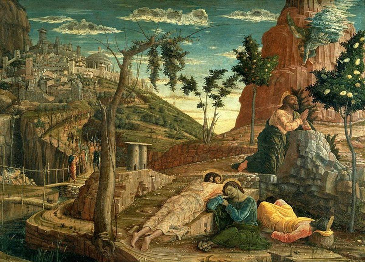 Andrea Mantegna, Agony in the Garden (a. 1455), Tours Musée des Beaux Arts