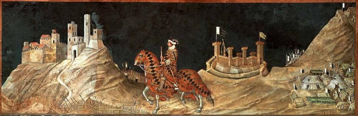 Simone Martini, Guidoriccio da Fogliano (1333), Siena Palazzo Pubblico