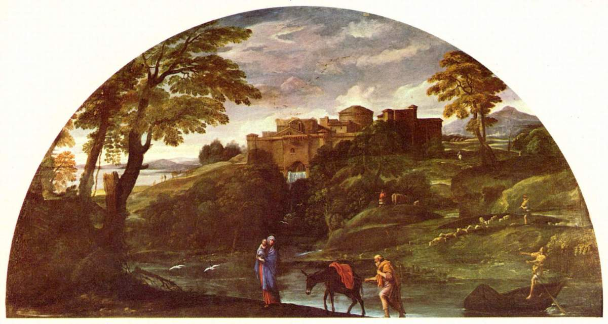 Annibale Carracci, Flight into Egypt (a. 1604), Rome Galleria Doria Pamphilij