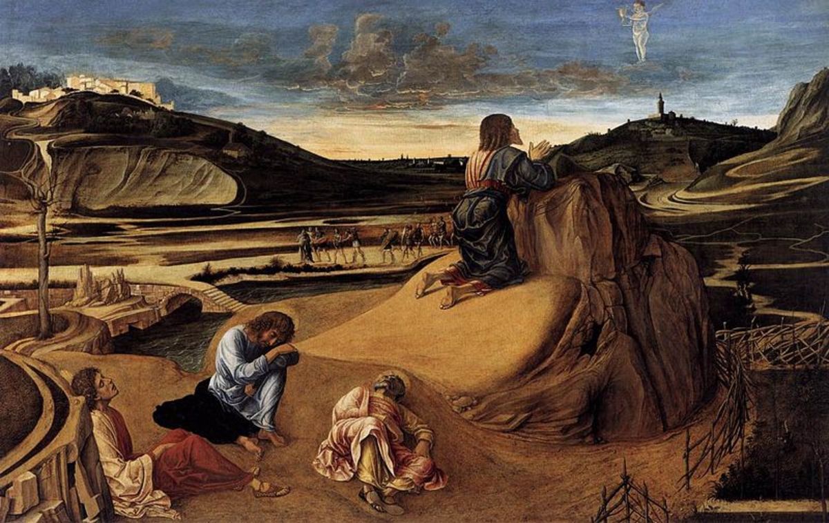 Giovanni Bellini, Agony in the garden (a. 1465), London National Gallery