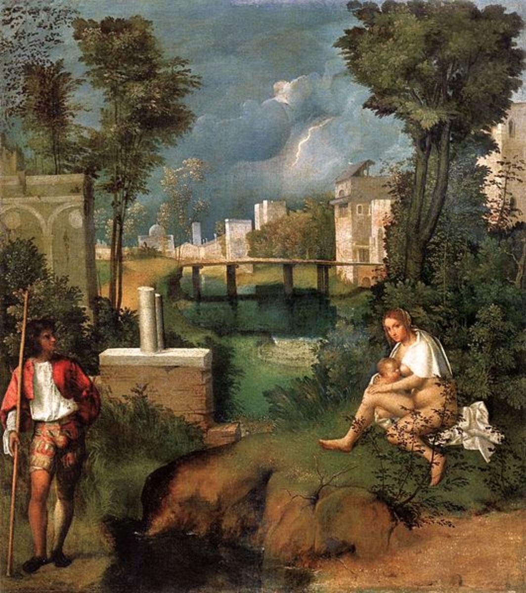 Giorgione, The Tempest (1507-1508) Venice Gallerie dell'Accademia
