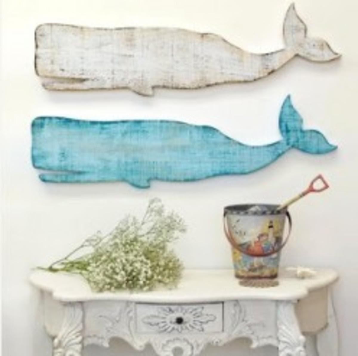 Wood Cut Whales