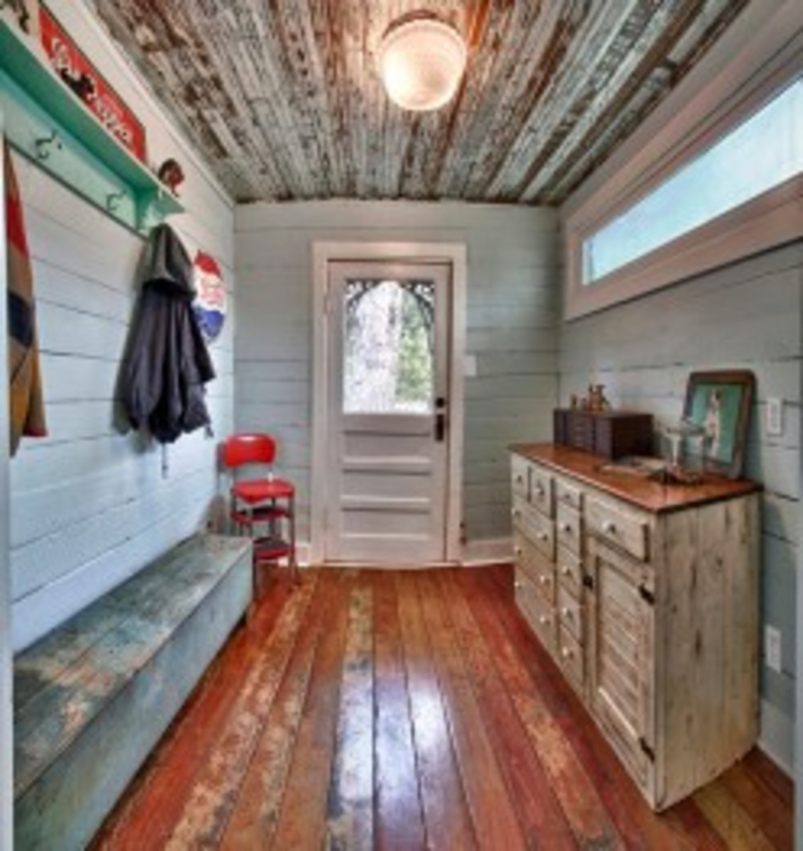 Rustic Sideboard and Distressed Floors