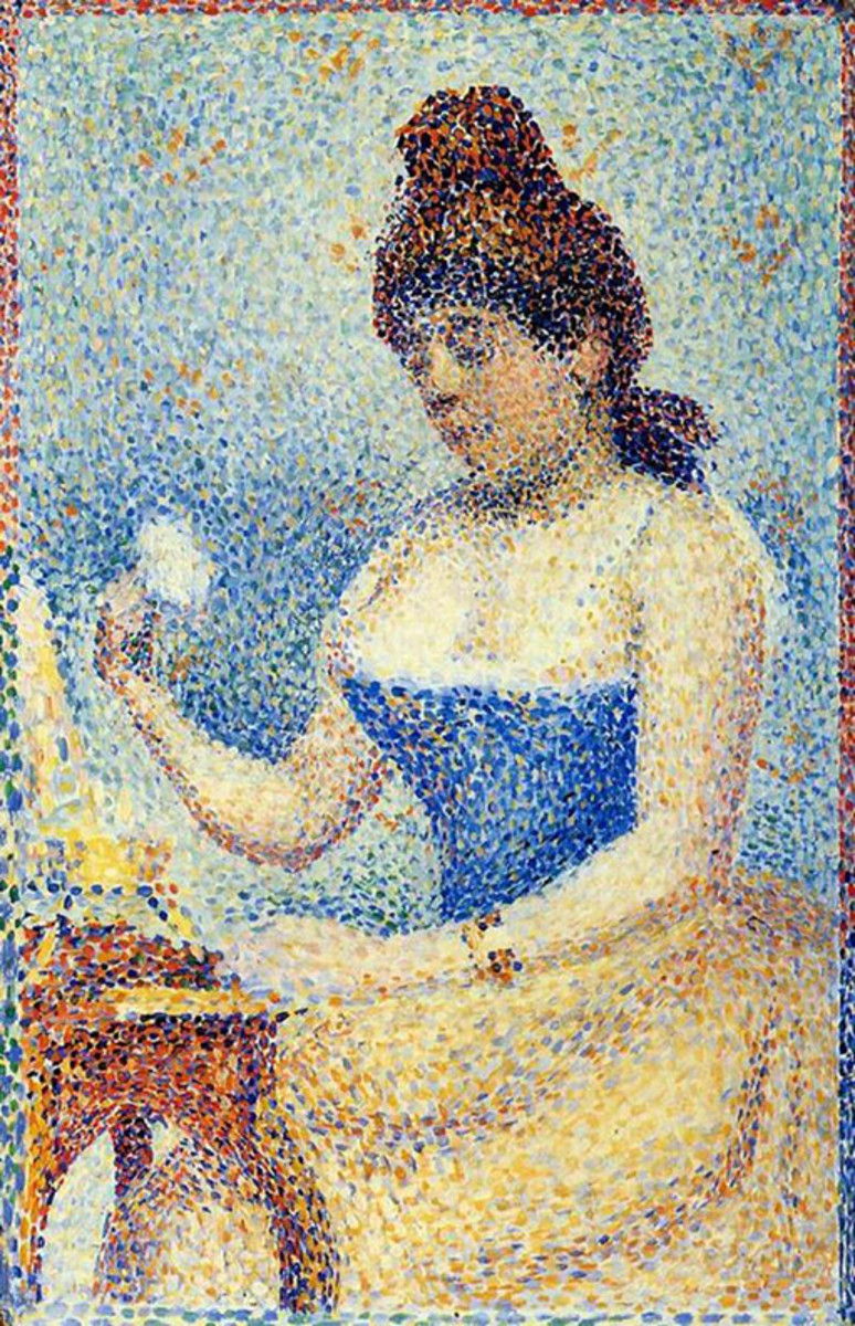 Study for Young Woman Powdering Herself