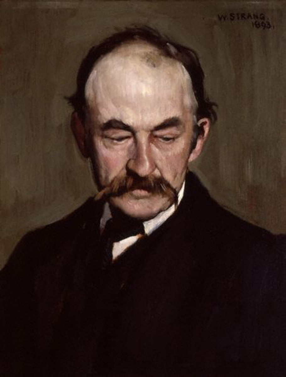 Portrait of Thomas Hardy, William Strang, 1893