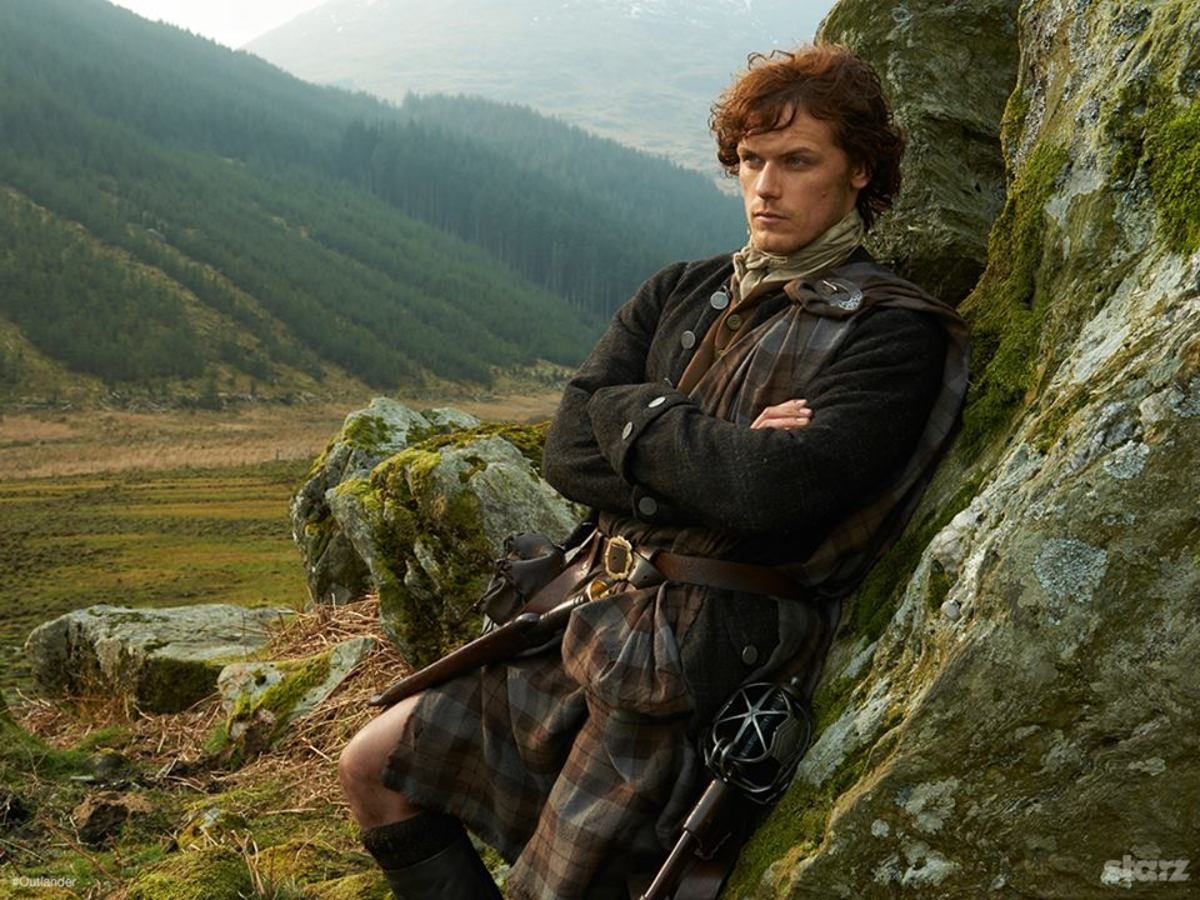 Jamie Fraser and that Great Kilt!