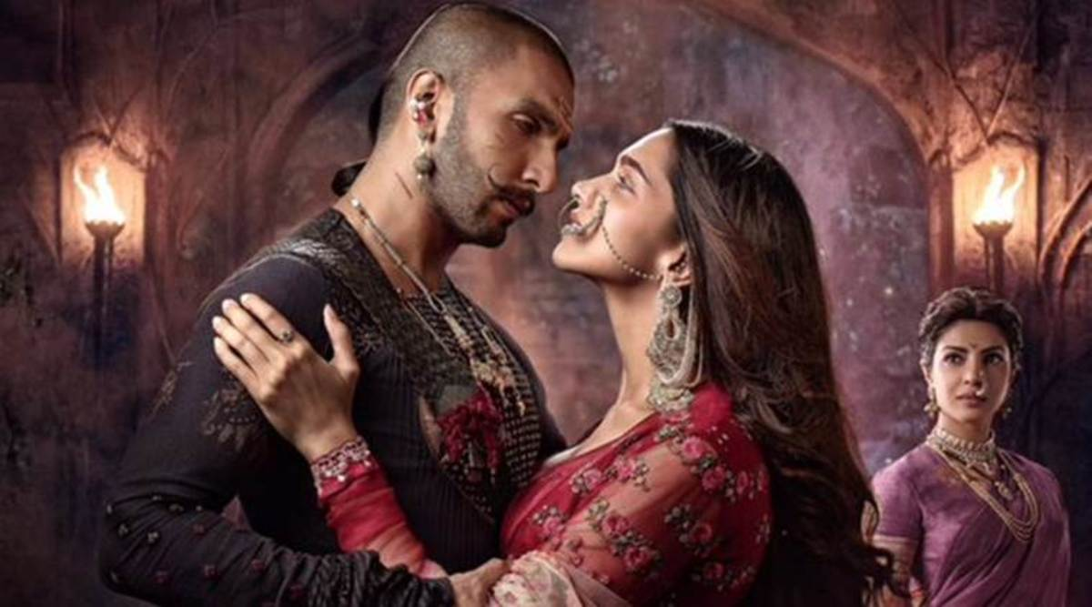 """Still from the film """"Mastani"""" depicting the love of the Muslim princess and Hindu qarrior"""
