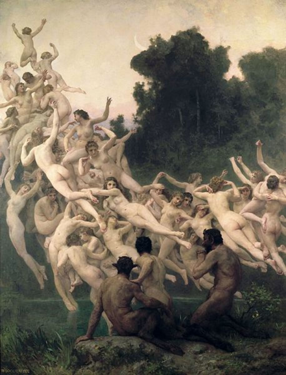 The Oreads - William-Adolphe Bouguereau (1825–1905) - PD-art-100