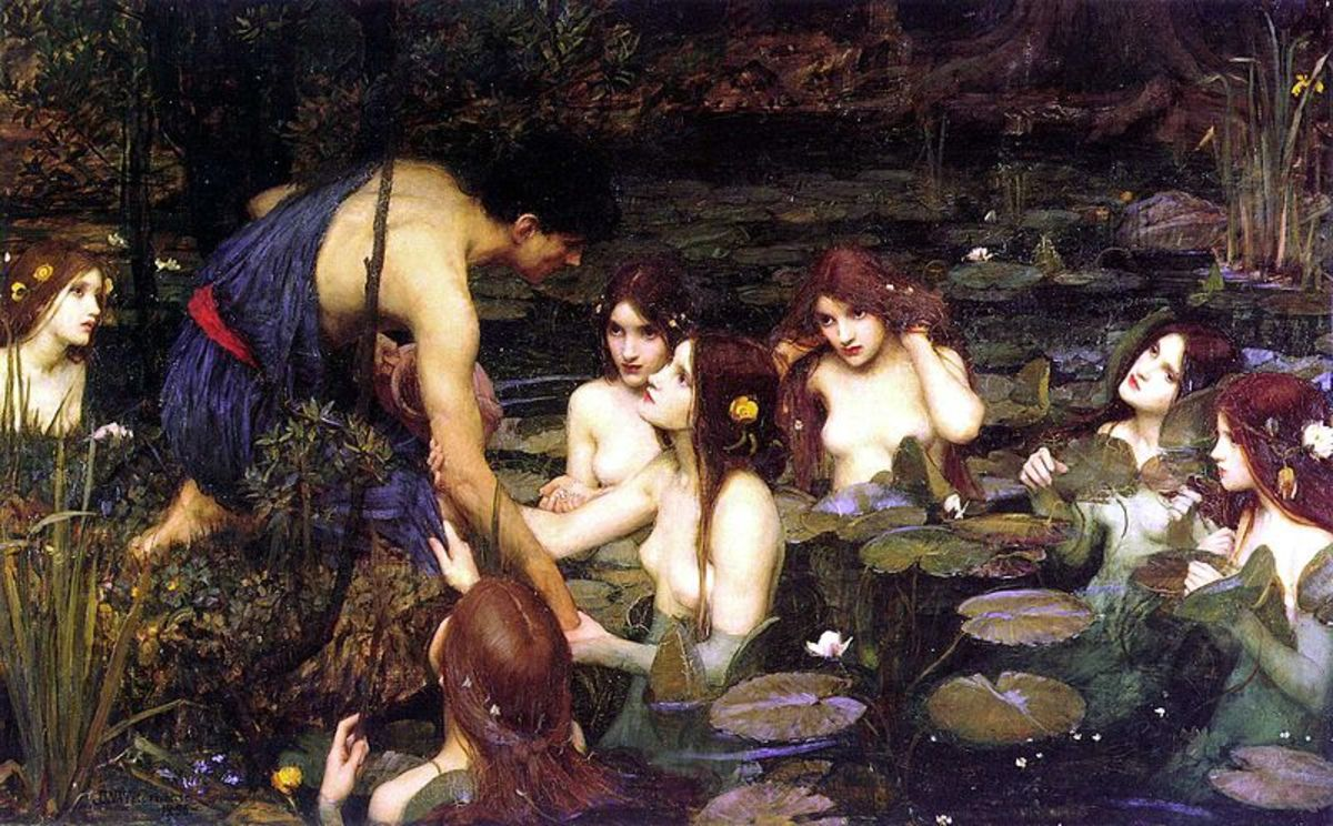 Hylas and the Nymphs - John William Waterhouse (1849–1917) - PD-art-100