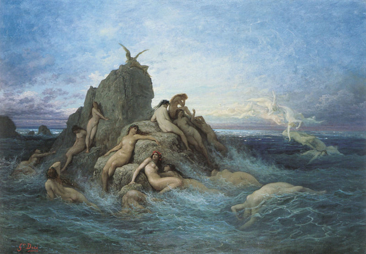 The Oceanids - Gustave Doré (1832–1883) - PD-art-100
