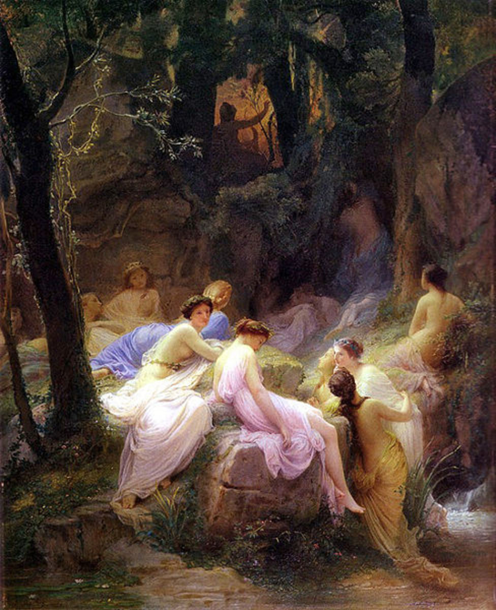 Nymphs Listening To The Songs of Orpheus - Charles Jalabert (1819–1901) - PD-art-100