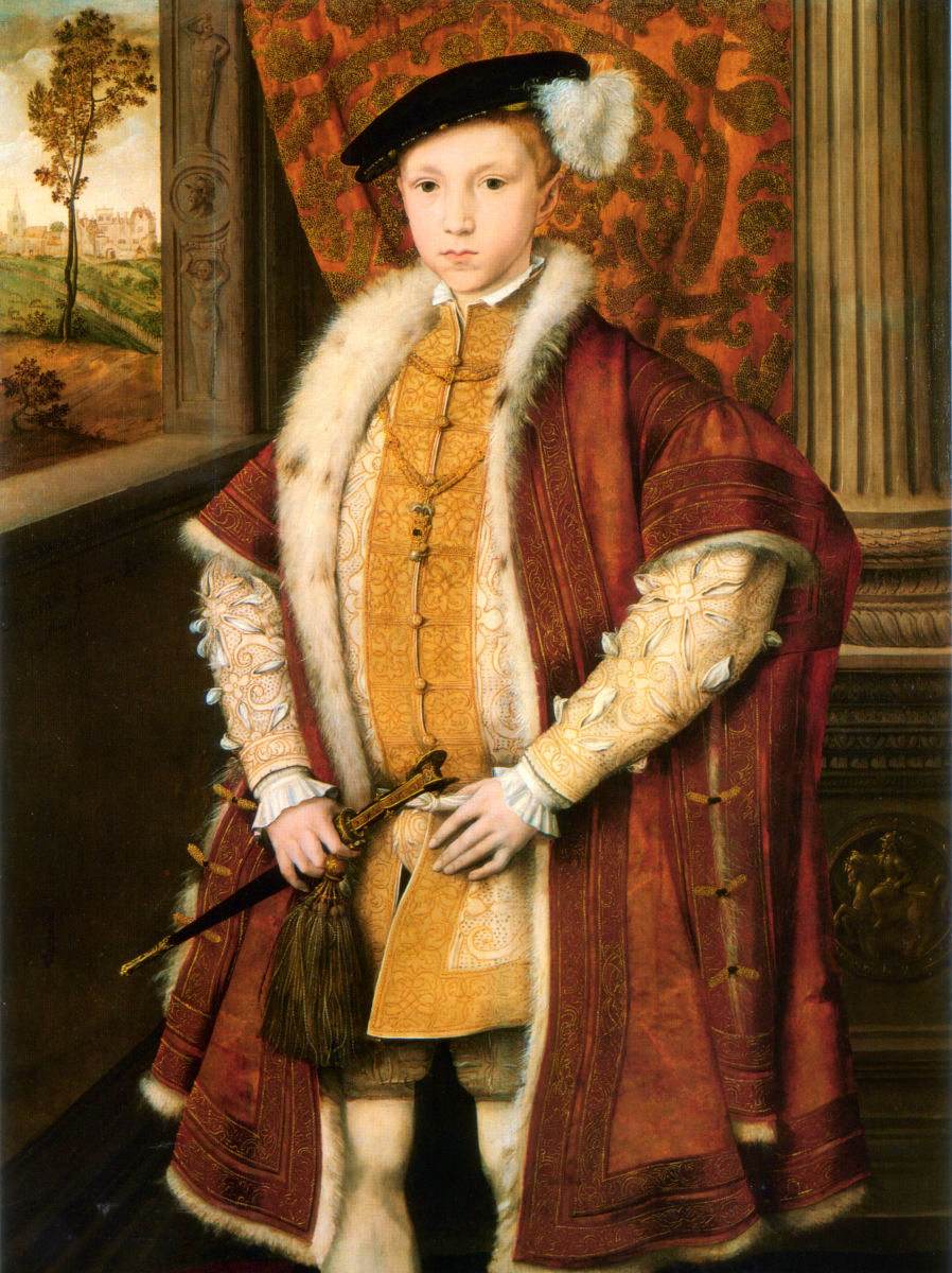 Portrait of Edward VI after becoming King of England.
