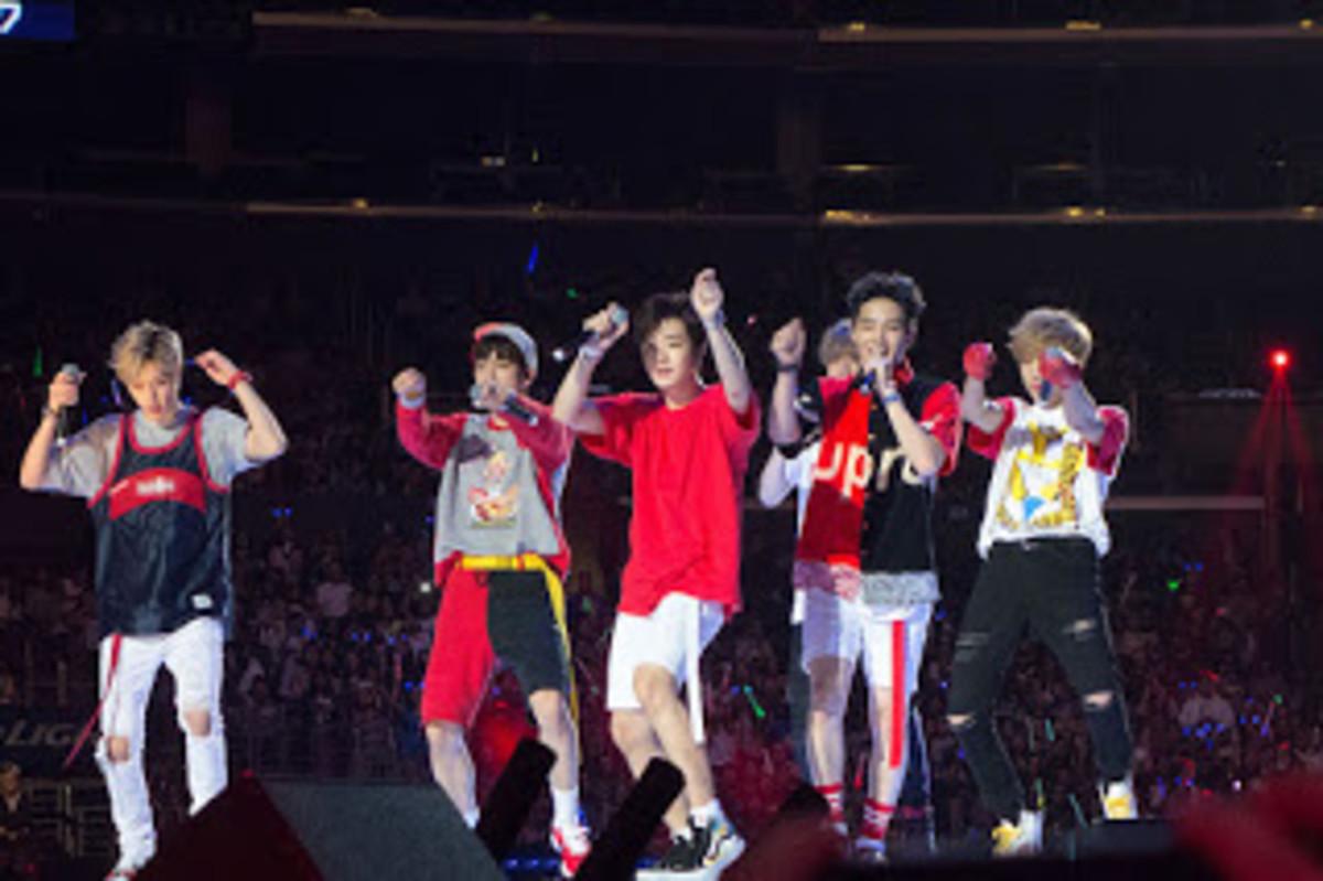 KCON 2015 Got7 on stage