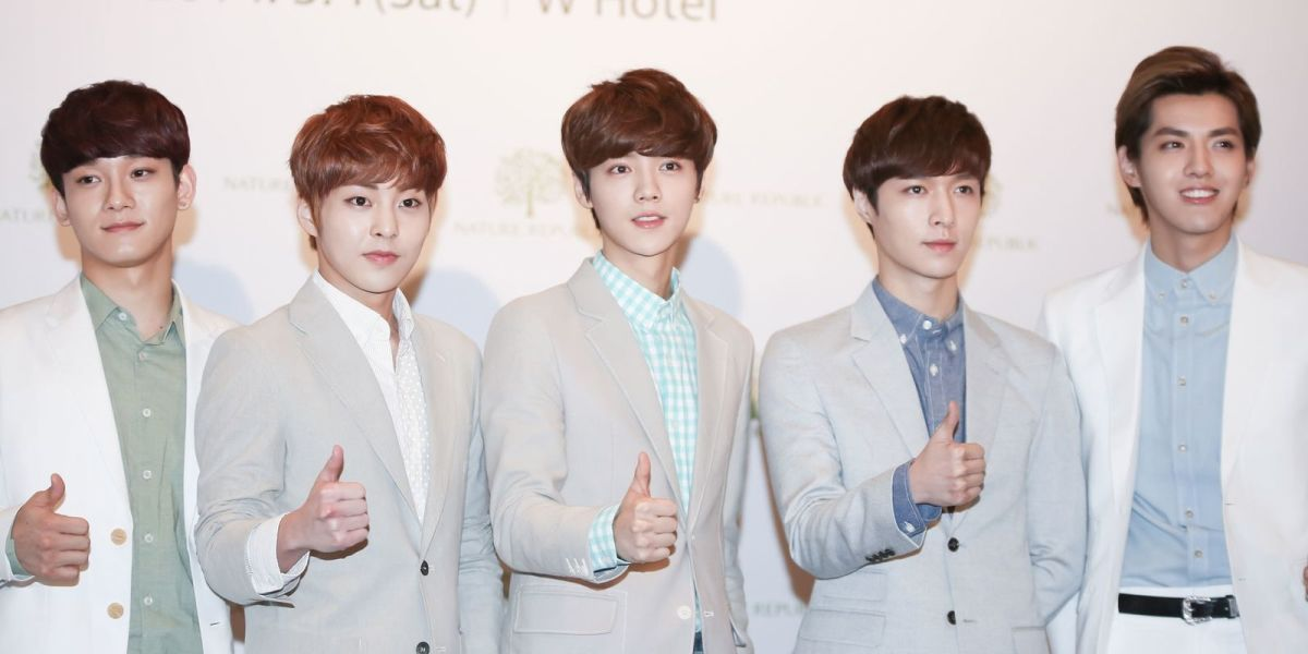 EXO-M at Nature Republic's press conference