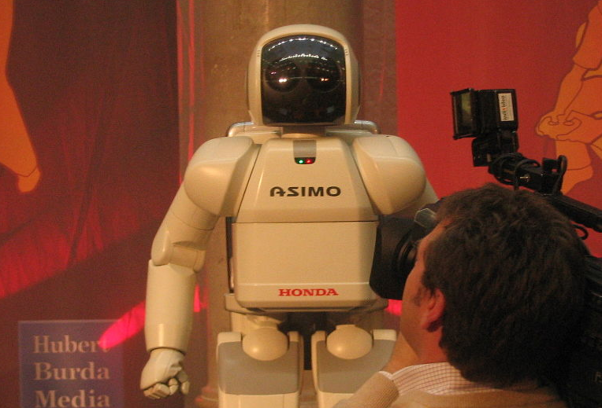 The Japanese ASIMO robot designed to help the ealderly