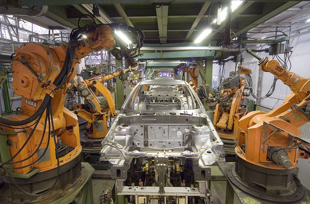 Industrial robots in an