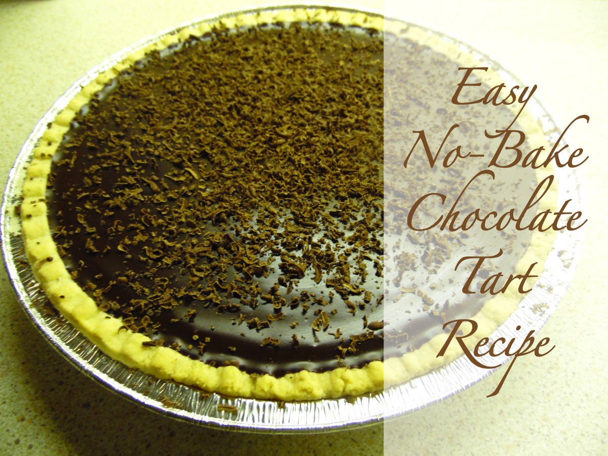 Quick and Easy No Bake Chocolate Tart