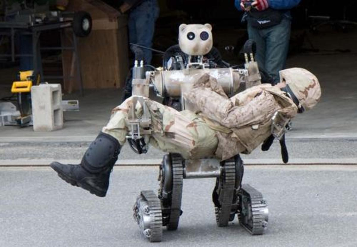 Prototype field rescue robot