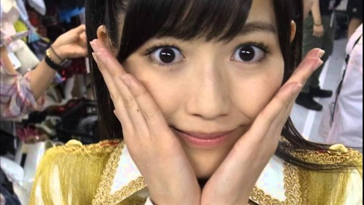 Mayu Watanabe posing for a photo without a smile. She looks like she is shocked. But she has been one of the most popular and cute AKB48 members ever.