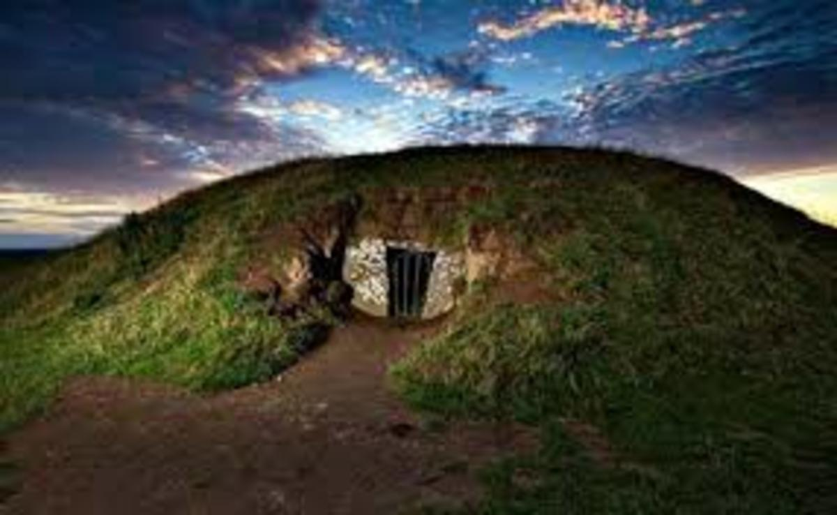 The Hill of Tara, which is aligned with the rising sun at Samhain.