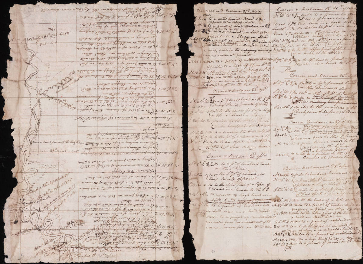 Page from Corp of Discovery Journal