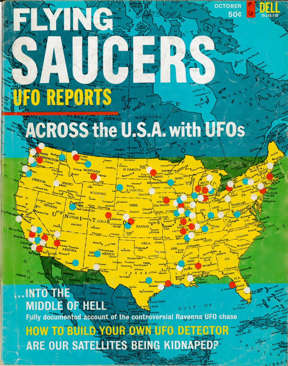 Flying Saucers, and UFOs Magazines of the 1960's, the Amazing world of the UFO Reports