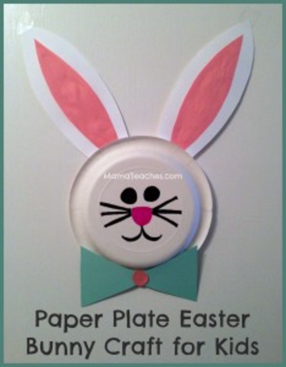 Easy, fun and cute as can be, this Easter Bunny craft is made with a paper plate