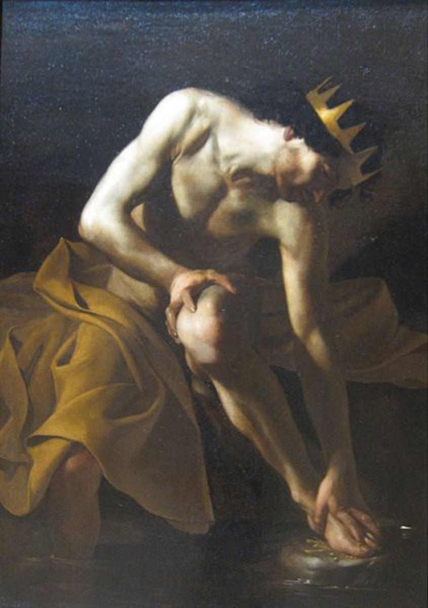 Midas Washing at the Source of the Pactolus - Bartolomeo Manfredi, c. 1617-19 -PD-art-100