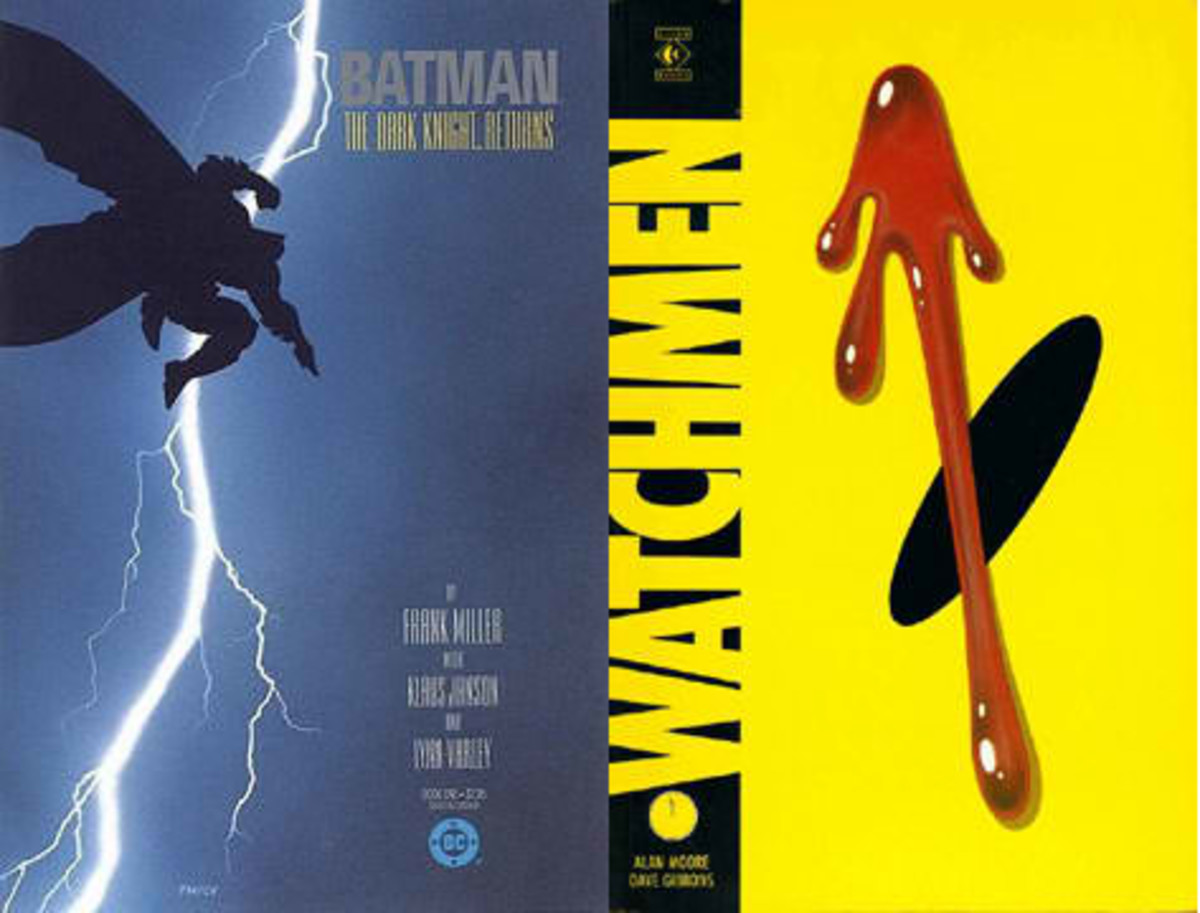Frank Miller's The Dark Knight (1986) and Alan Moore's Watchmen (1986) changed the face of comics forever