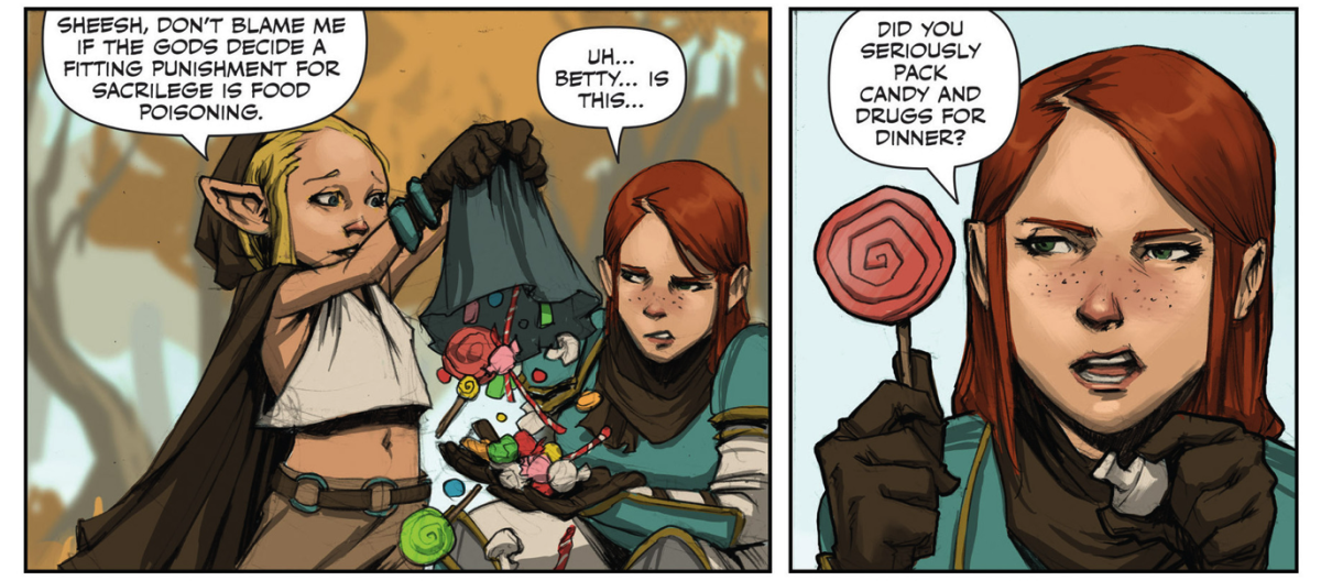 Rat Queens has that snappy humor of a comic book strip and sword-slashing action of D&D.