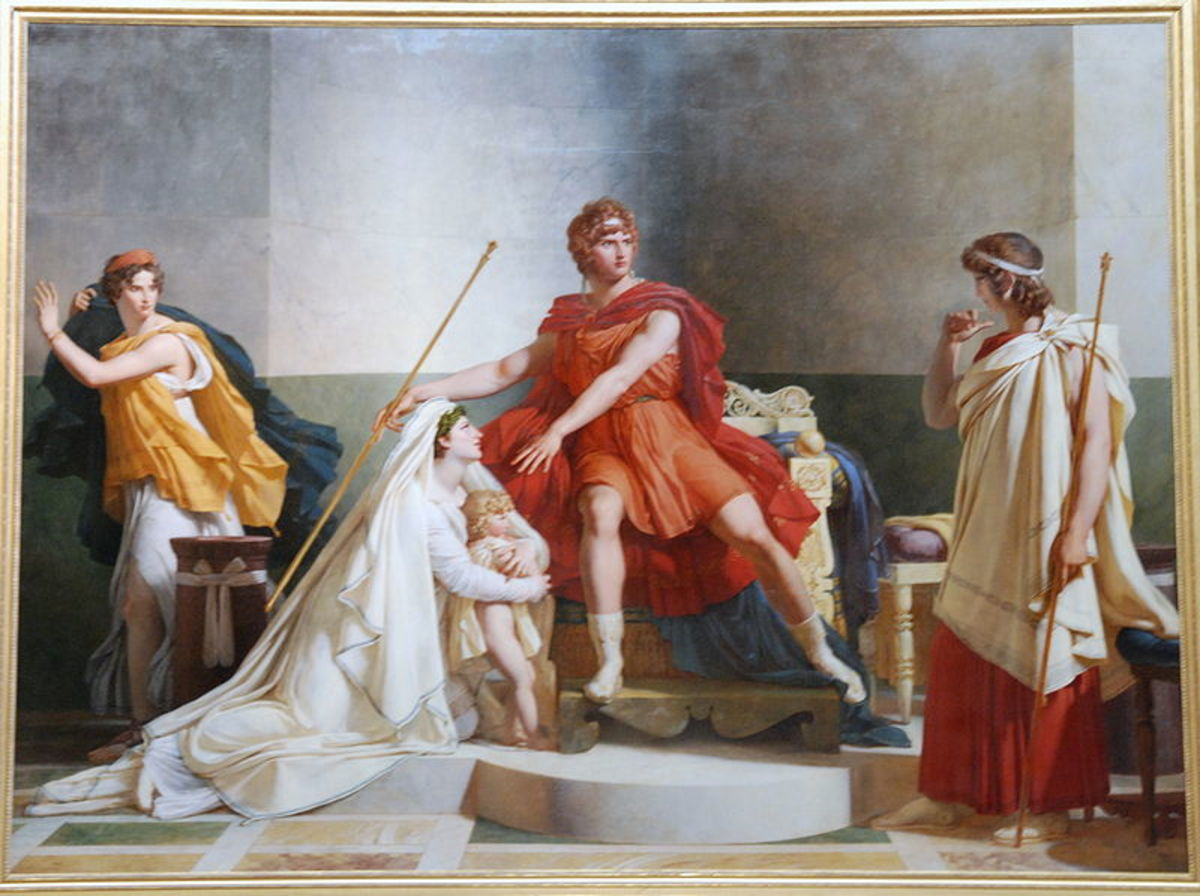 Andromache and Pyrrhus -  	 Pierre-Narcisse Guérin (1774–1833) - PD-art-100