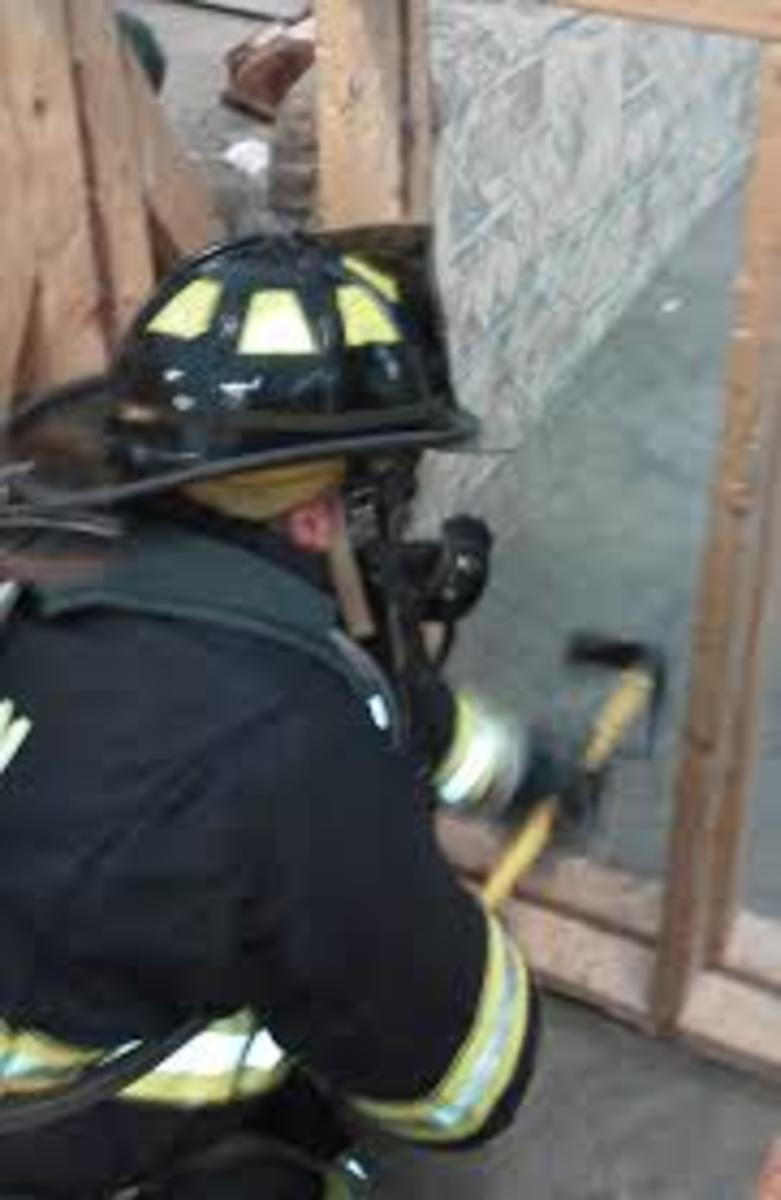 Sounding a floor is a great way to avoid falling through a weakened floor in a fire.